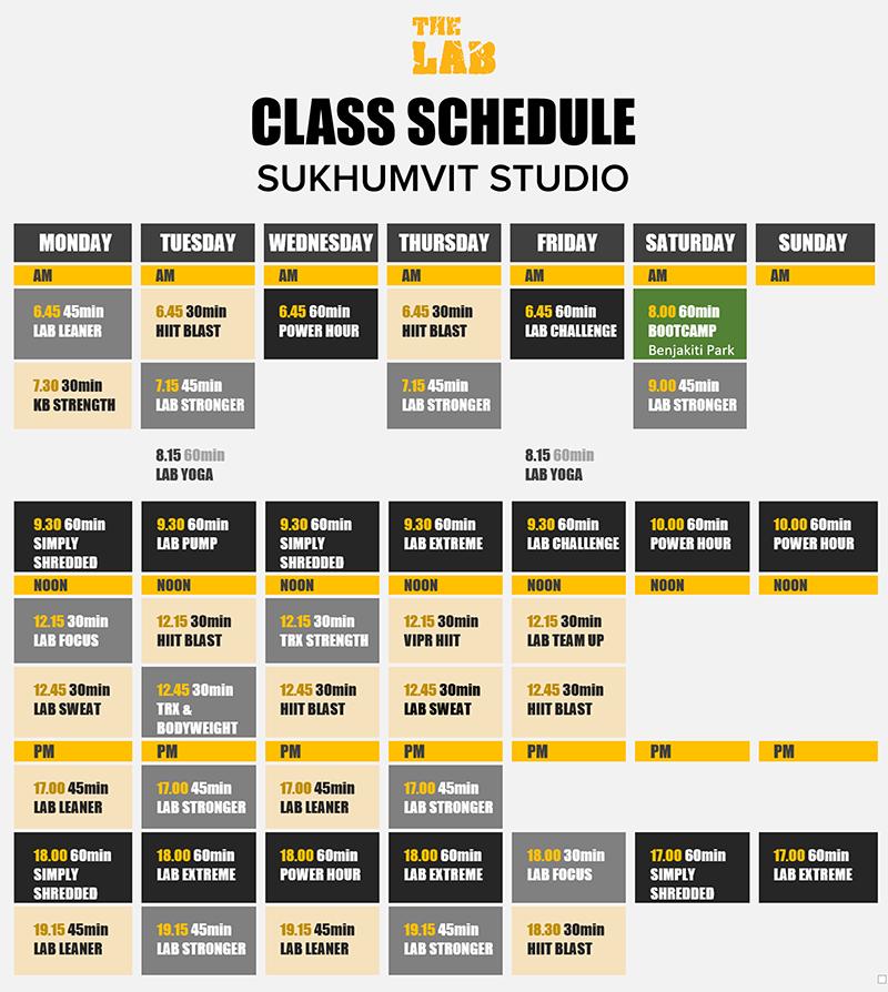 Timetable Sukhumvit June PNG