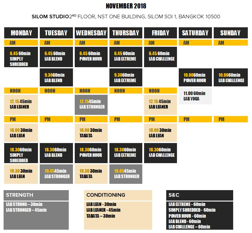 silom-timetable-november-2018